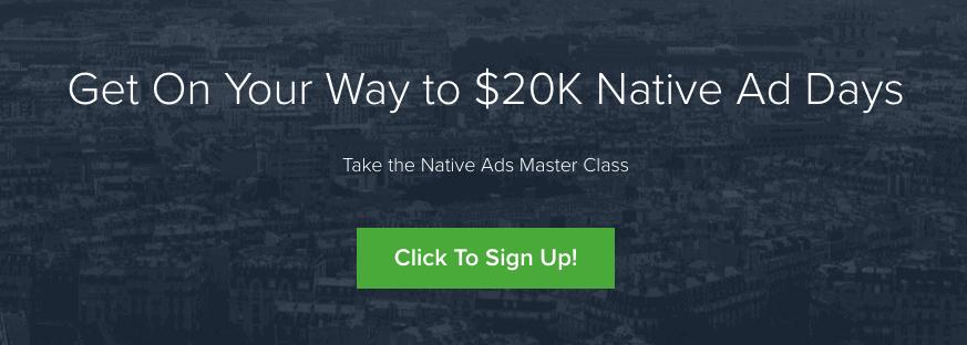 Native ads Masterclass claims