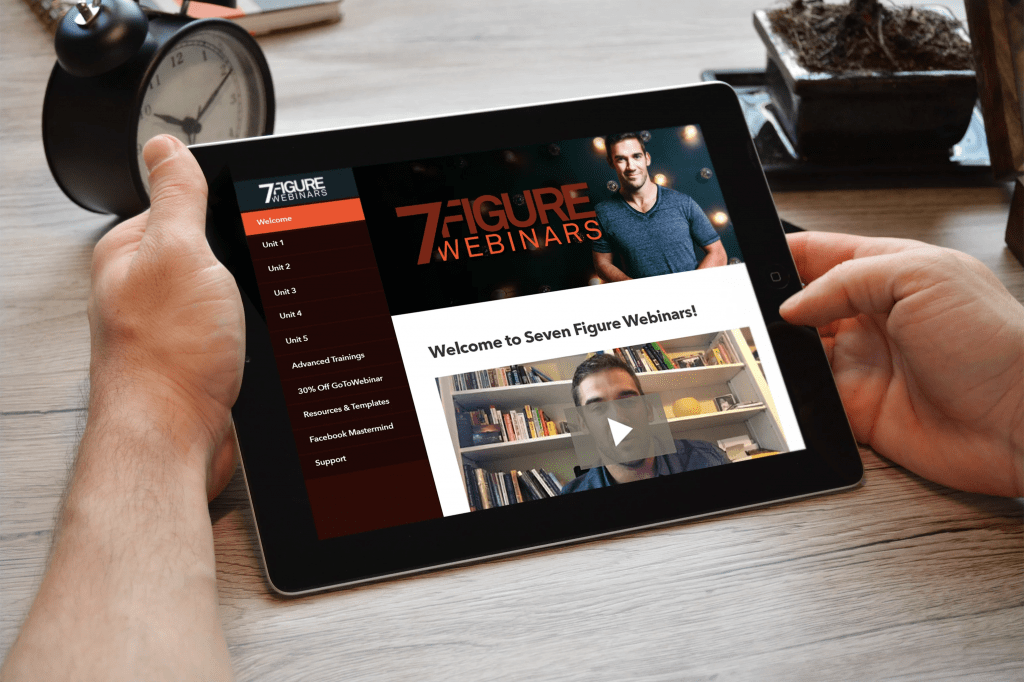 7 Figure Webinars Lewis Howes - IPad
