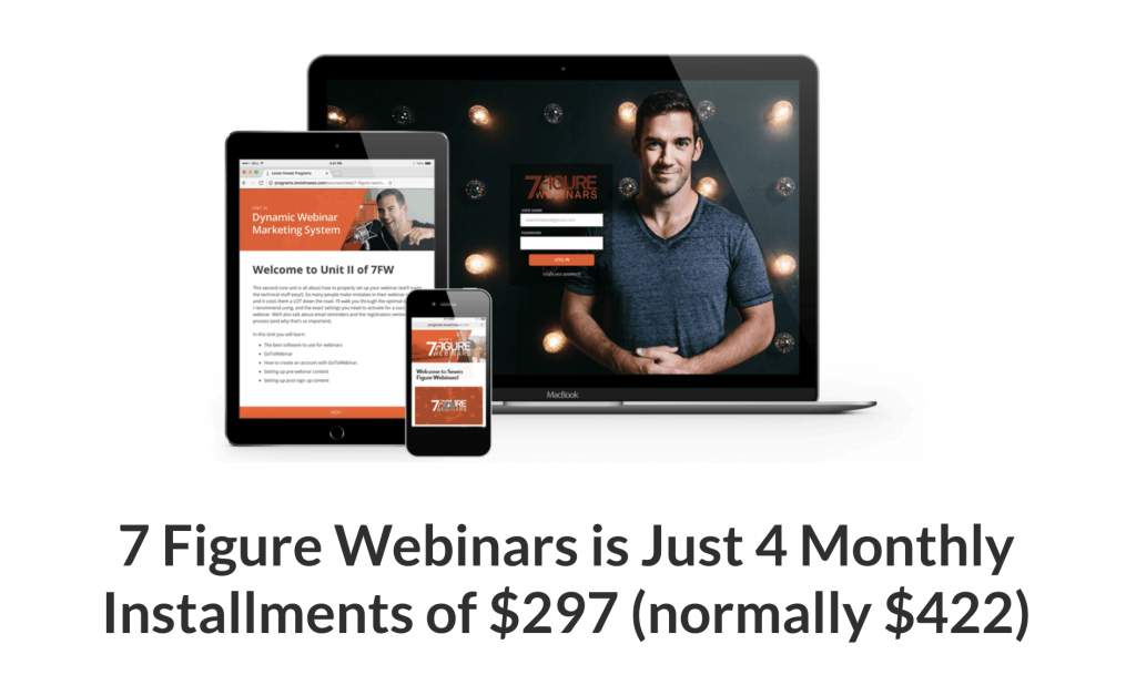 7 Figure Webinars Lewis Howes Pricing Info