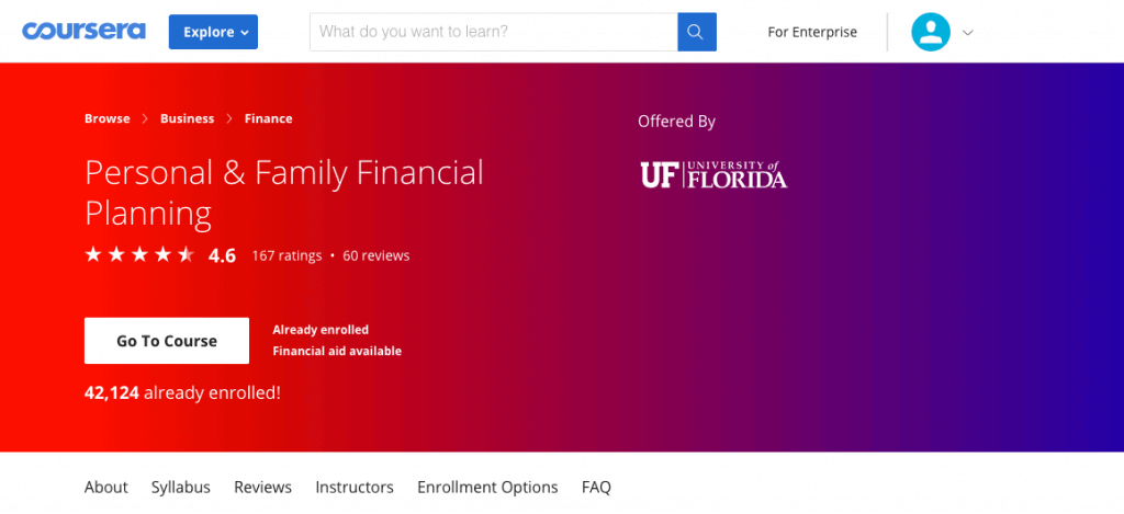 Coursera Personal Finance Courses