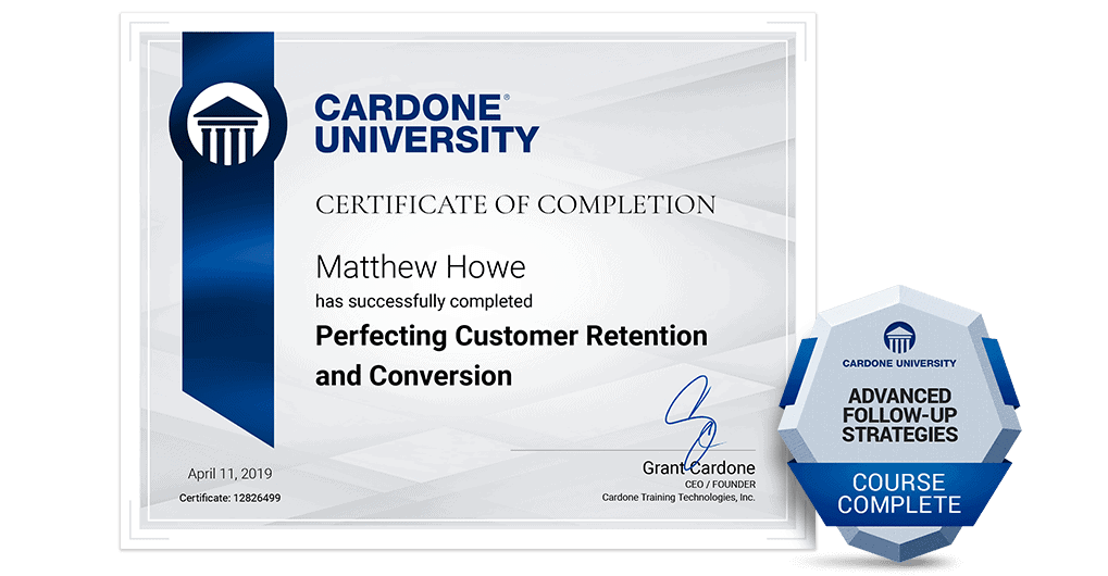 Grant Cardone Sales Training University Certification