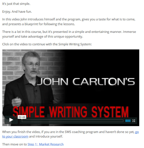 John Carlton Simple Writing System 2.0 Market Research