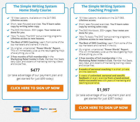 John Carlton Simple Writing System 2.0 Plans