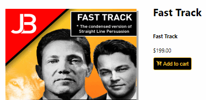 Straight Line Persuasion Fast Track Cost