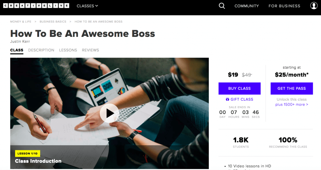 Best Leadership Courses - Awesome Boss Course