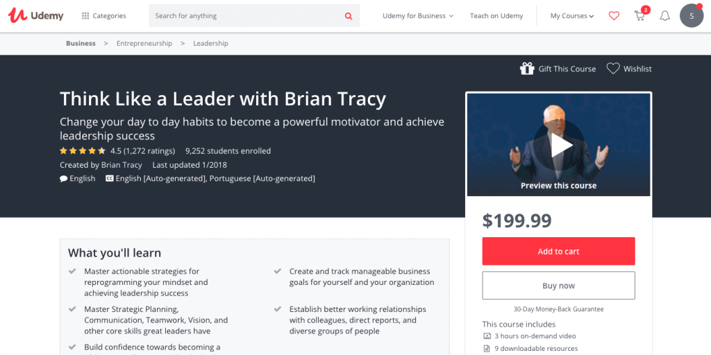 Best Leadership Courses - Brian Tracy Course