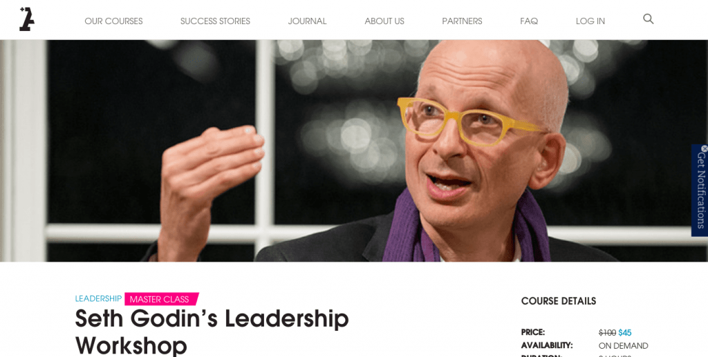 Best Leadership Courses - Seth Godin Course