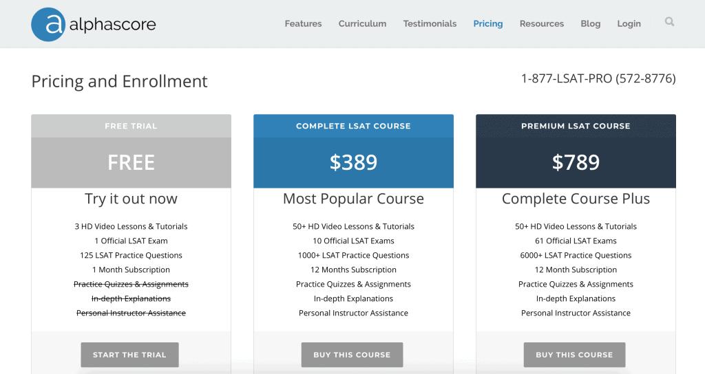 AlphaScore Complete LSAT Course