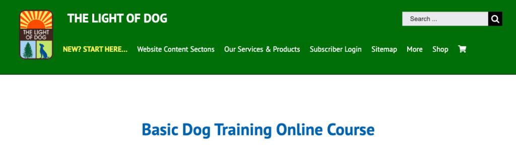 Best Dog Training Courses - Basic Dog Training Online Course