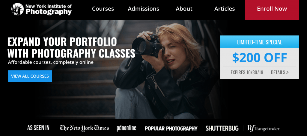 New York Institute of Photography Professional Photography Course