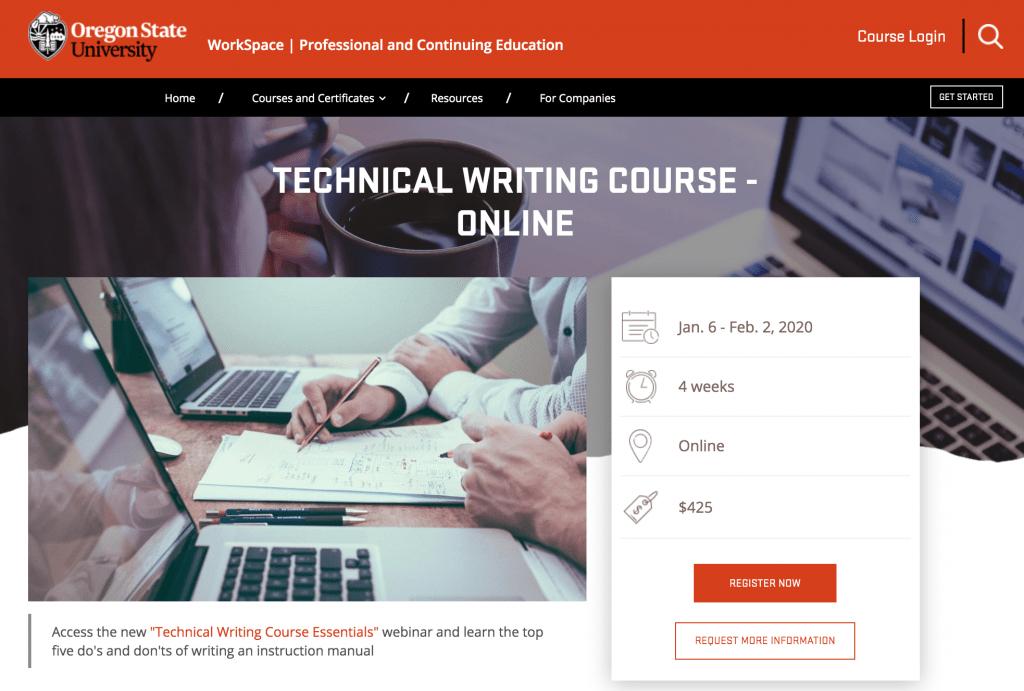 Oregon State University Technical Writing Course