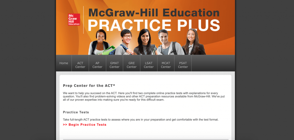 Prep Center for ACT McGraw Hill