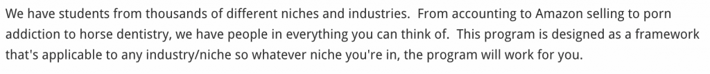 Sam Ovens' Consulting Accelerator Versatility