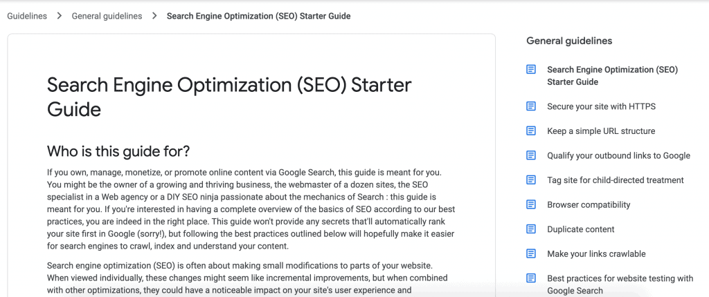 Search Engine Optimization Starter Guide-Google