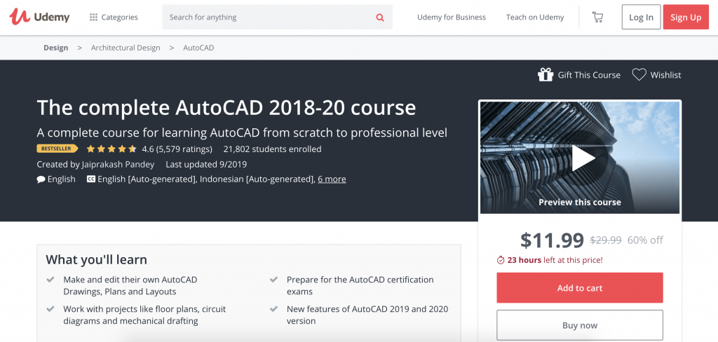 The Complete AutoCAD 2018-2020-Udemy