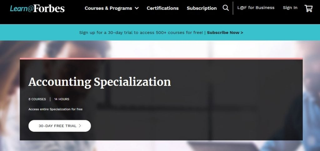 Accounting Specialization