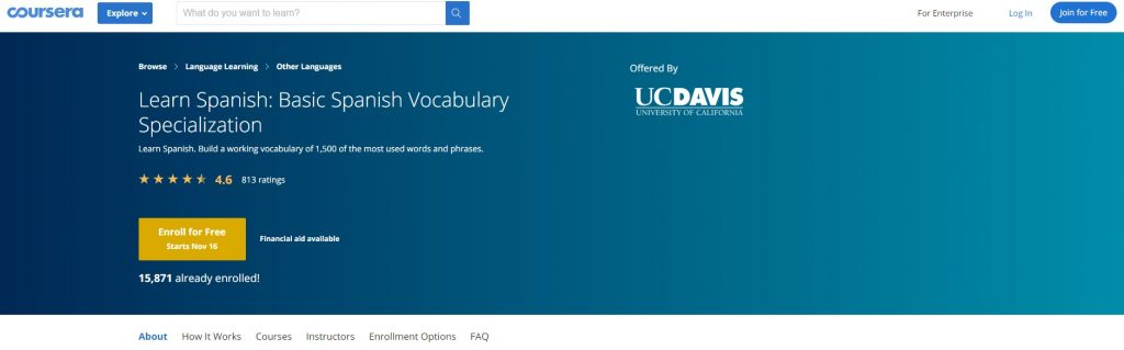 Coursera - Learn Spanish Course