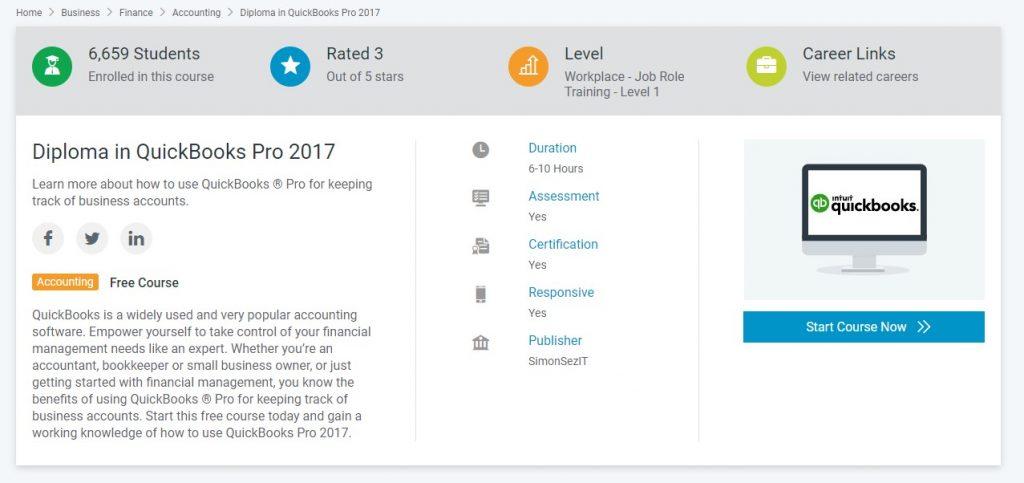 Diploma QuickBooks Pro 2017