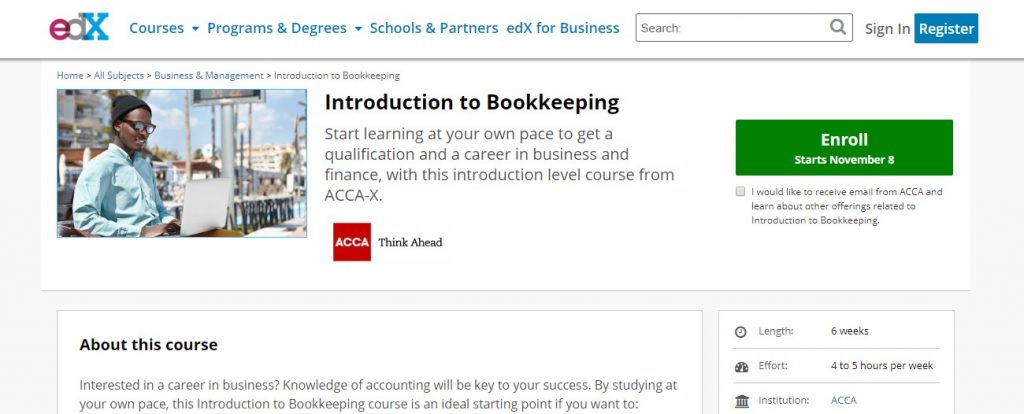 Introduction Bookkeeping EdX