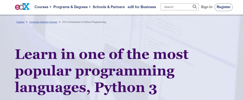 Introduction to Python Programming(edX) Course