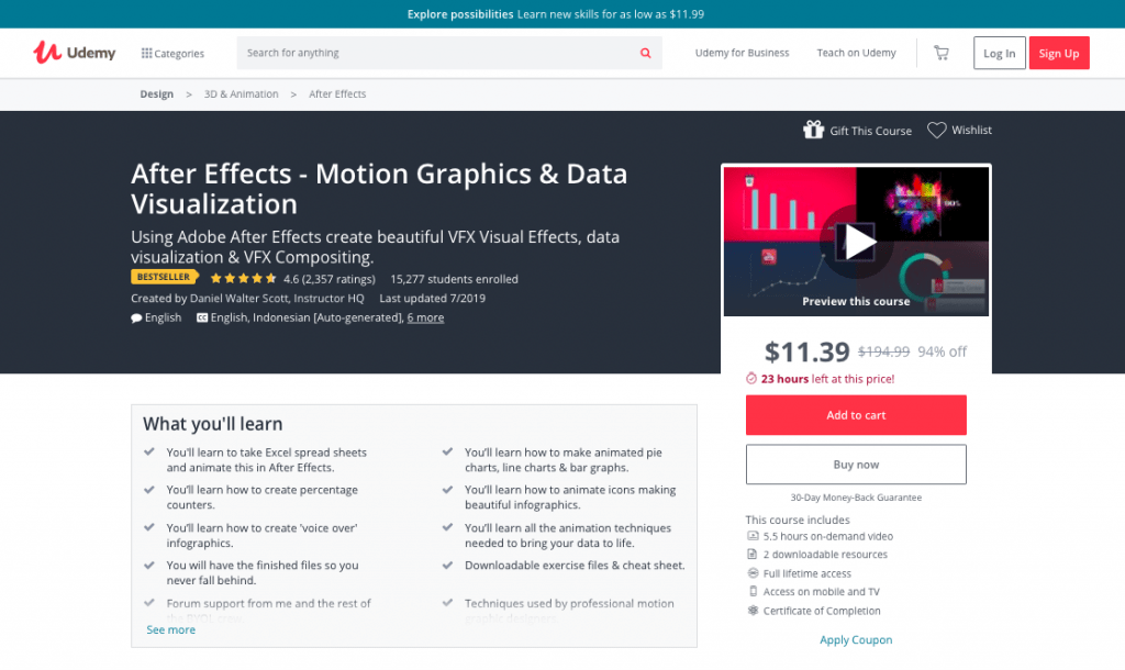 After Effects - Motion Graphics & Data Visualization Course