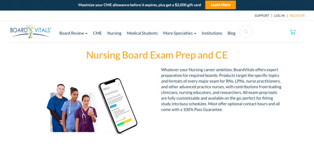Board Vitals Nursing Board Exam Prep and CE