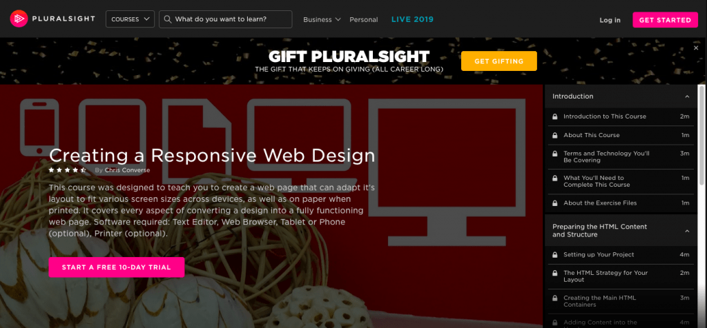 Creating a Responsive Web Design by Plural Sight
