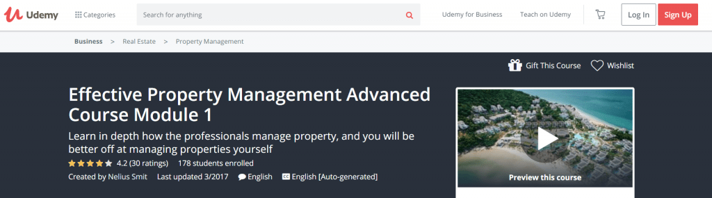 Effective Property Management Advanced Course Module 1 — Udemy