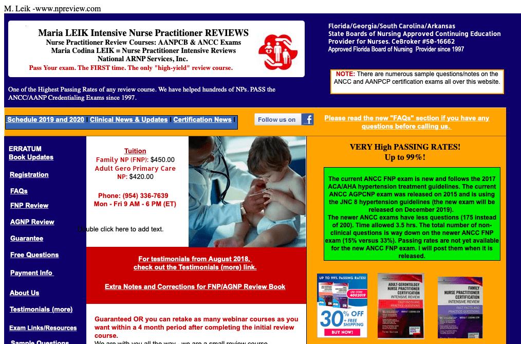 Maria LEIK Intensive Nurse Practitioner Review