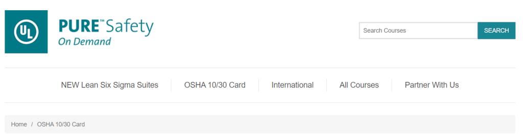 OSHA 10-Hour and 30-Hour Card — Pure Safety