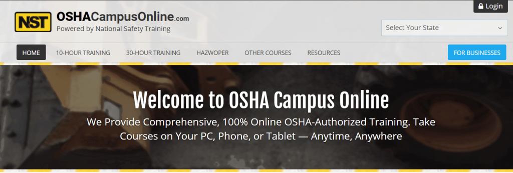 OSHA Training — OSHA Campus Online