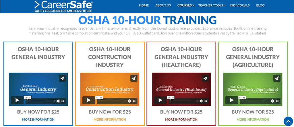 OSHA Training Course — Career Safe