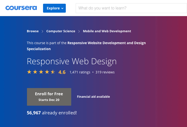 Responsive Web Design by Udemy