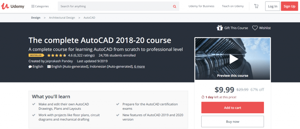 The Complete AutoCAD 2018-20 Course - Udemy