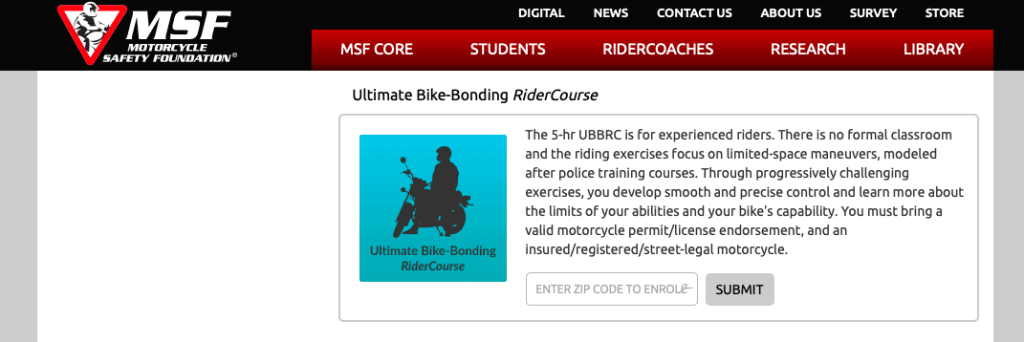 Ultimate Bike-Bonding RiderCourse by MSF