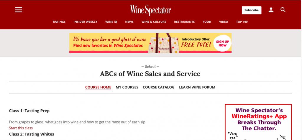 ABCs of Wine Sales and Service — Wine Spectator School