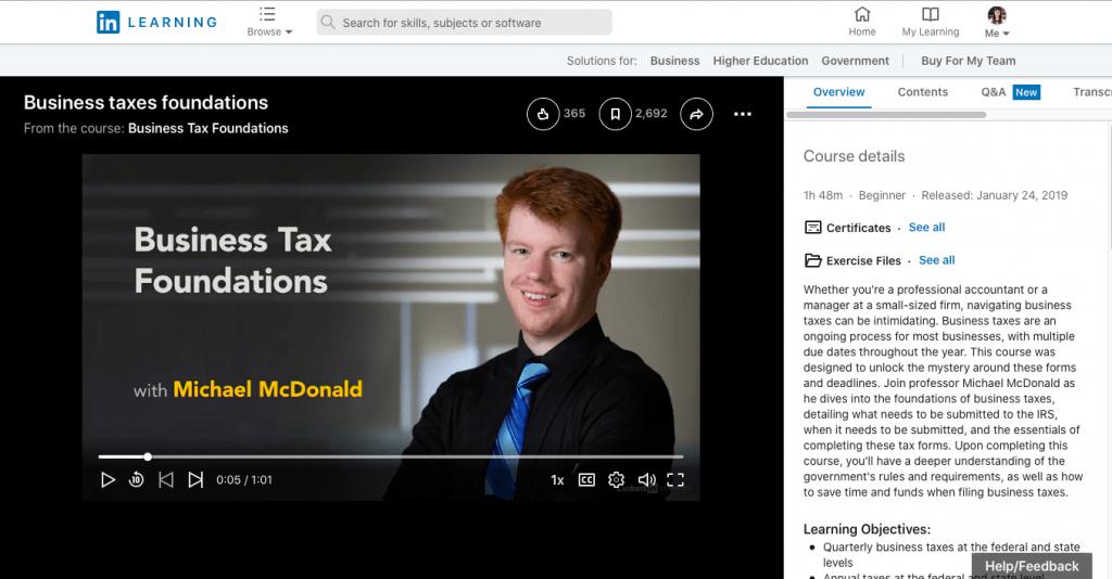 Business Tax Foundations Lynda.Com
