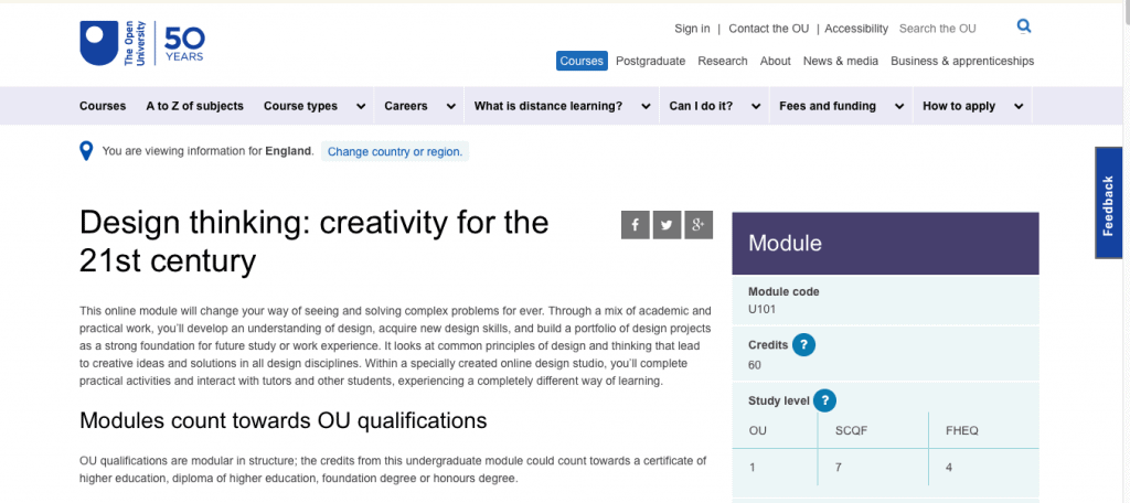 Design Thinking Creativity for the 21st Century by The Open University