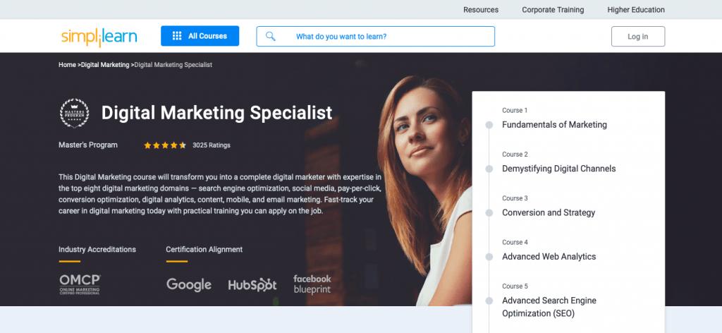 Digital Marketing Specialist Master's Program