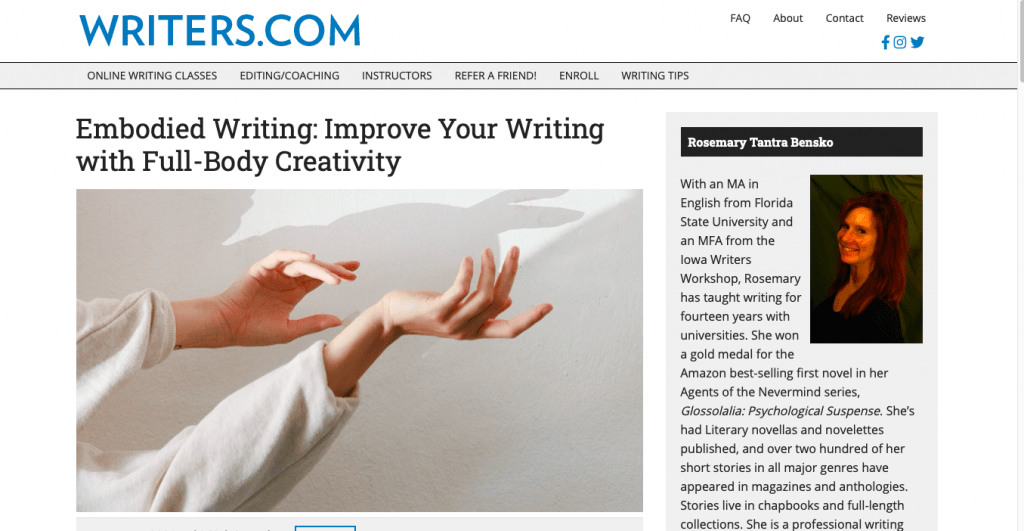Embodied Writing Improve Your Writing with Full-Body Creativity