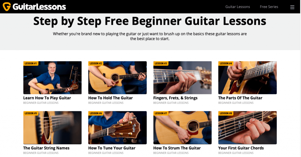 GuitarLessons Page Link