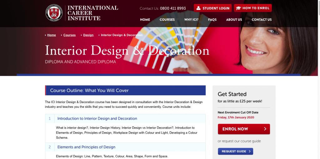 Interior Design and Decoration — International Career Institute