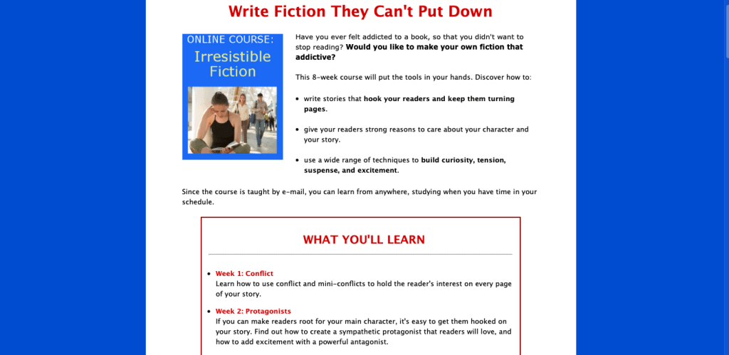 Irresistible Fiction Page Link