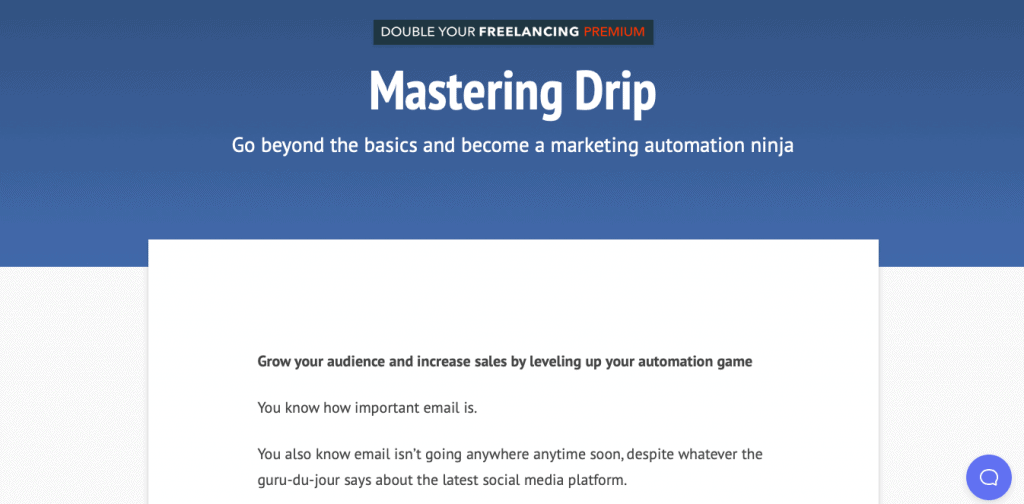 Mastering Drip Page Link