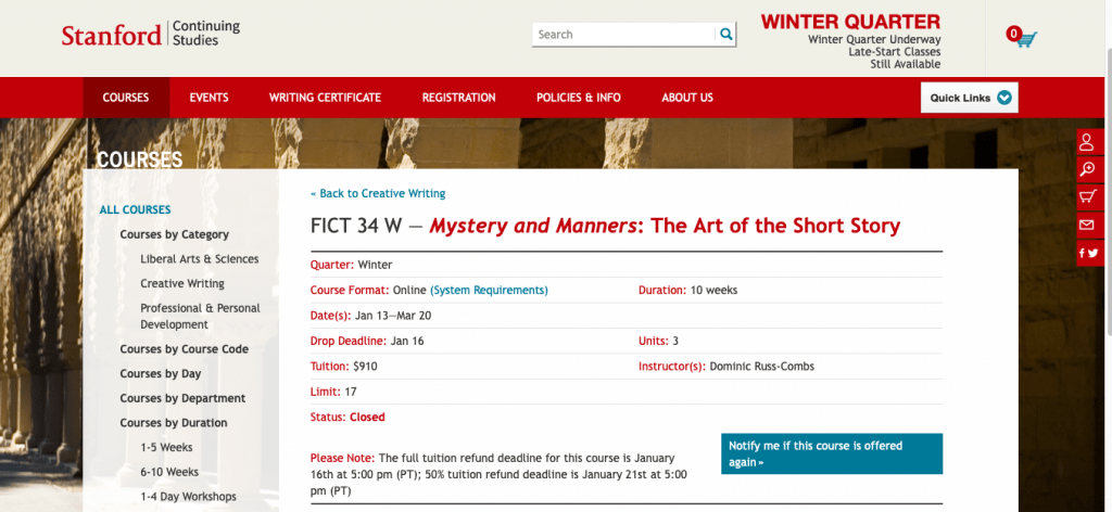 Mystery and Manners The Art of the Short Story