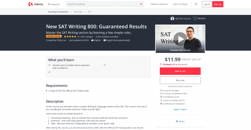 New SAT Writing 800 Guaranteed Results — Udemy