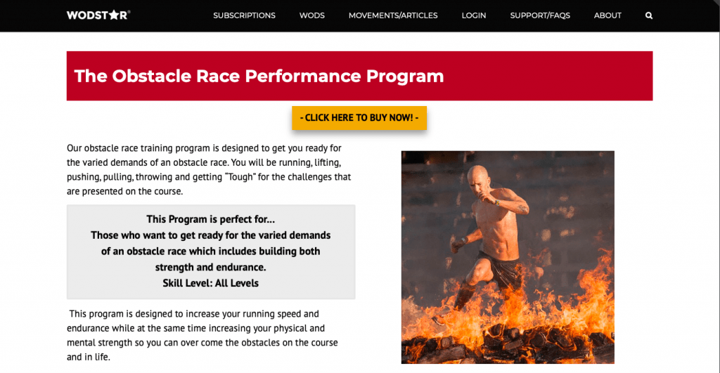 Obstacle Race Course Performance Program