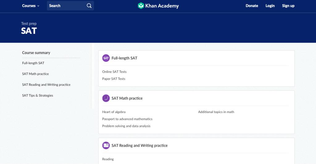 Test Prep SAT Khan Academy