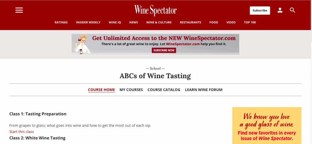 The ABCs of Wine Tasting — Wine Spectator School