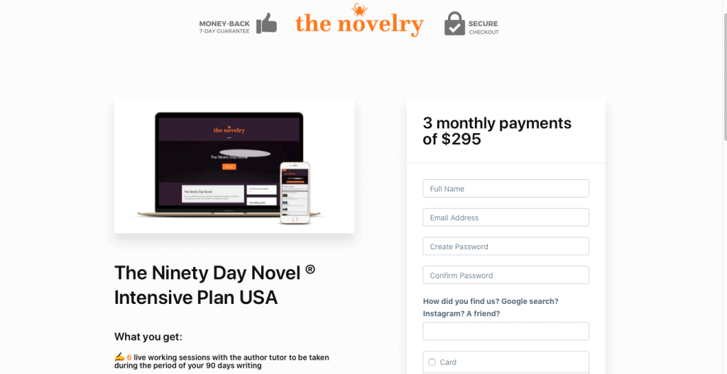 The Ninety Day Novel Page Link